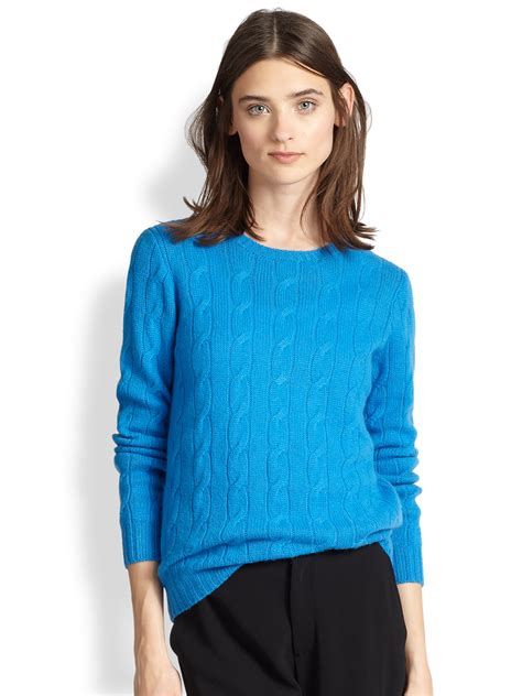 Ralph Lauren Black Label Cable-knit Cashmere Sweater in