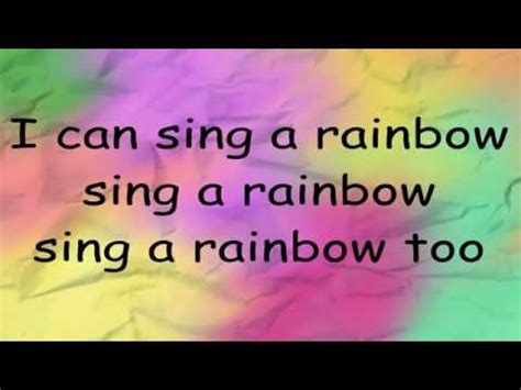 I can sing a rainbow - YouTube