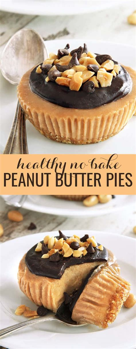 No Bake Peanut Butter Pies   Great gluten free recipes for